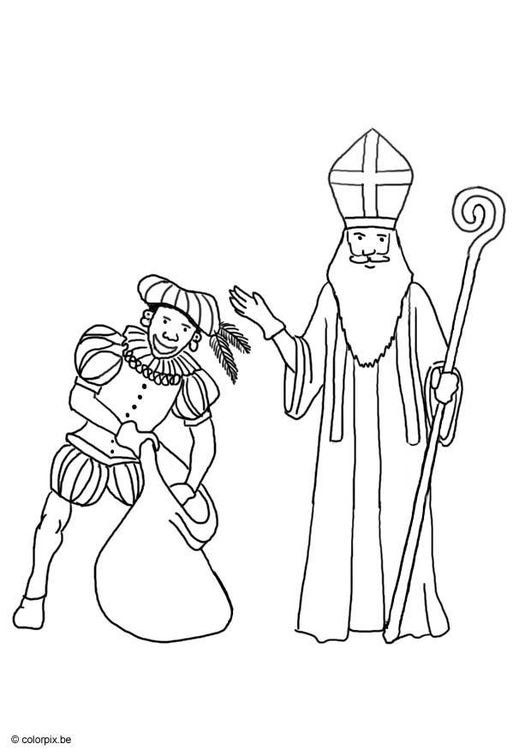 Malvorlage Sankt Nikolaus Und Knecht Ruprecht Ausmalbild 8747 Images