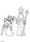 Malvorlage  Sankt Nikolaus und Knecht Ruprecht