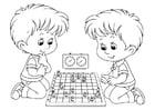 Malvorlage  Schach 2