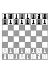 Malvorlage  Schachbrett
