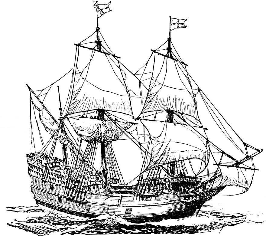 Malvorlage Schiff Ausmalbild 15954 Images