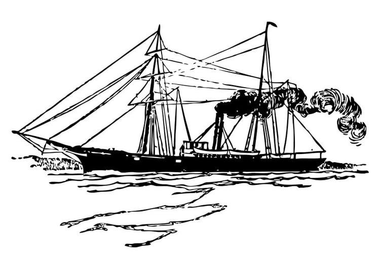 Malvorlage Schiff Ausmalbild 10512