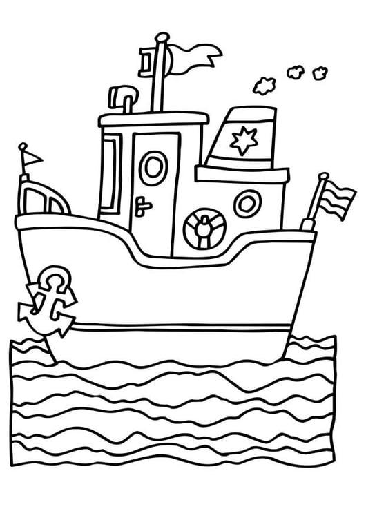 Malvorlage Schiff Ausmalbild 6541 Images