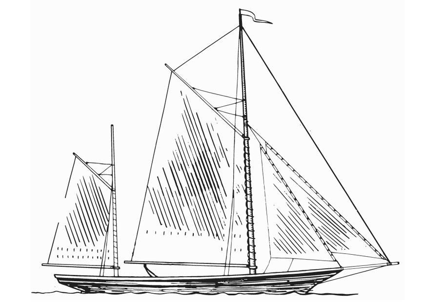 Kleurplaten Tekenen Malvorlage Schiff Masten Kostenlose Ausmalbilder Zum