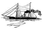 Malvorlage  Schiff