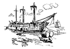Malvorlage  Schiffbruch