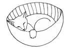 Malvorlage  schlafende Katze
