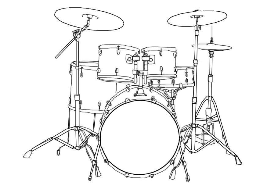 Malvorlage Schlagzeug | Ausmalbild 7002.