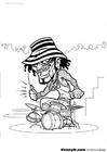 Malvorlage  Schlagzeuger