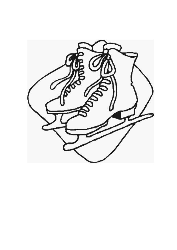 Malvorlage Schlittschuhlaufen Desene Iarna Colorat