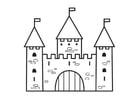 Malvorlage  Schloss-2