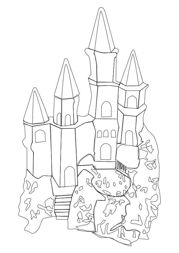 Malvorlage Schloss | Ausmalbild 10239.