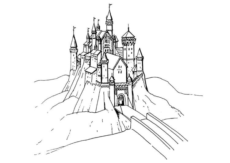 Kleurplaat Frozen Koning Malvorlage Schloss Ausmalbild 18469