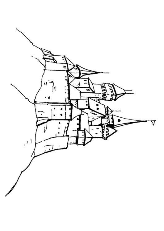 Malvorlage Schloss : Ausmalbild 10658.