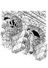 Malvorlage  Schlossverteidigung