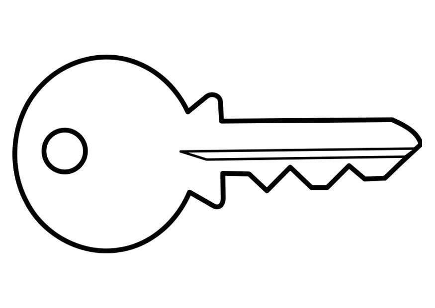 malvorlage schlüssel  ausmalbild 22467