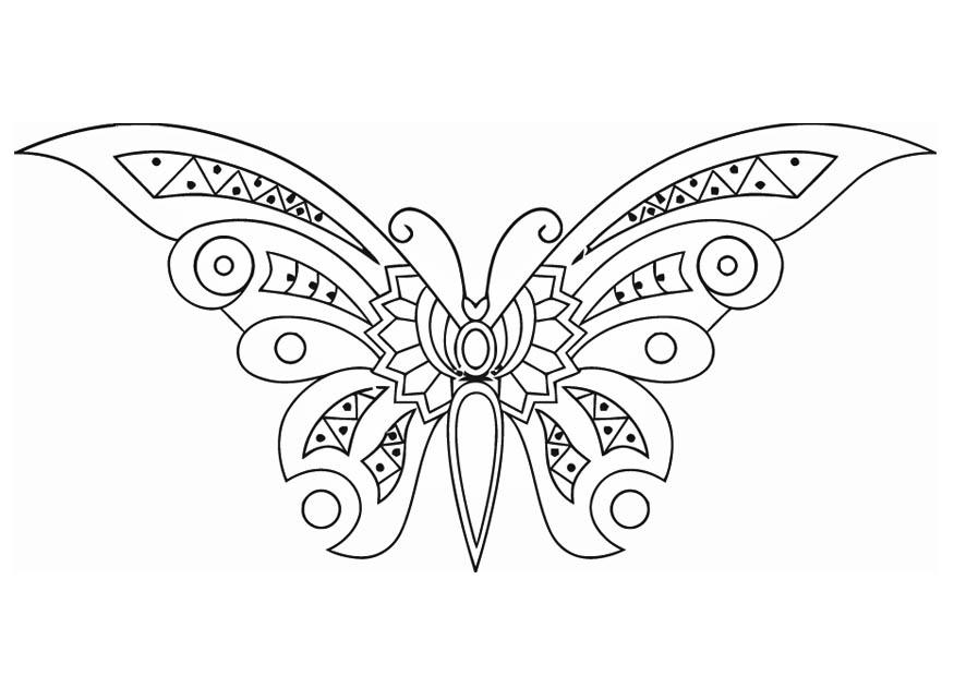 Malvorlage Schmetterling | Ausmalbild 16585.