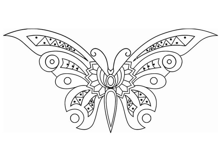 Malvorlage Schmetterling Ausmalbild 16585