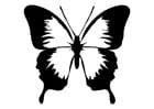 Malvorlage  Schmetterling