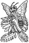 Malvorlage  Schmetterlingsprinzessin