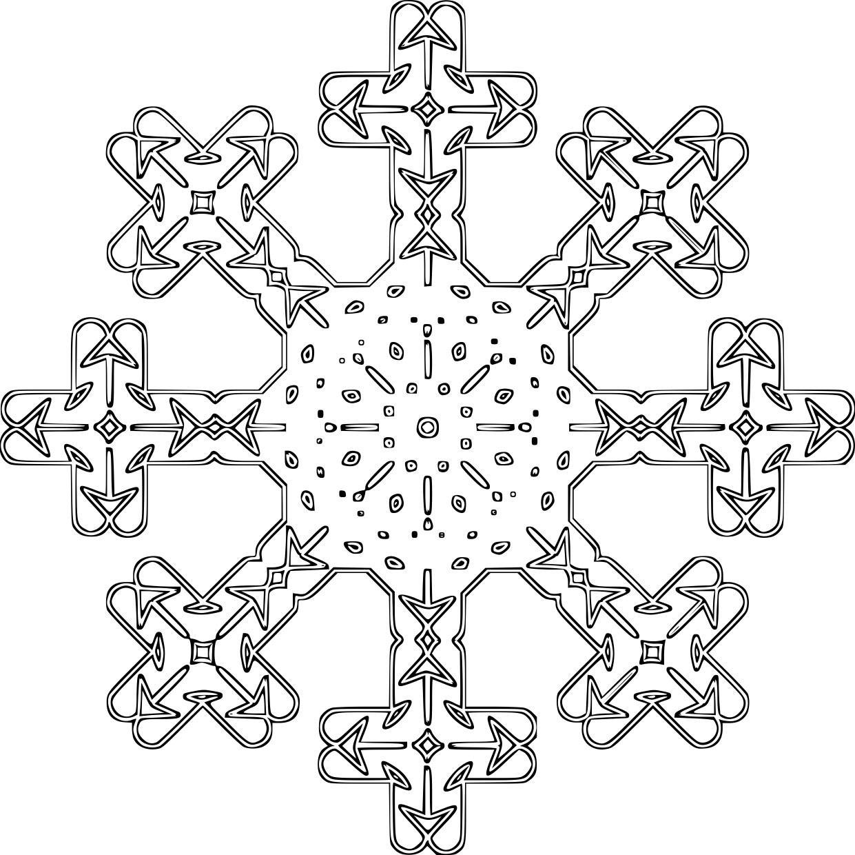 Malvorlage Schneeflocke   Ausmalbild 16121.