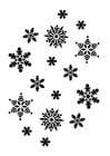 Malvorlage  Schneeflocken