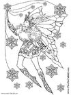 Malvorlage  Schneeflockenfee