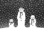 Malvorlage  Schneemänner