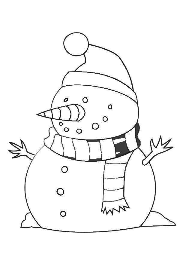 Kleurplaat Kerst Olaf Malvorlage Schneemann Ausmalbild 29538 Images