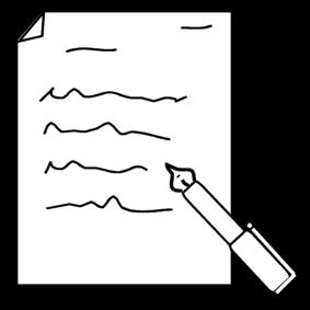 Malvorlage schreiben Ausmalbild