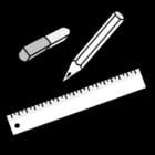 Malvorlage  Schreibgeräte