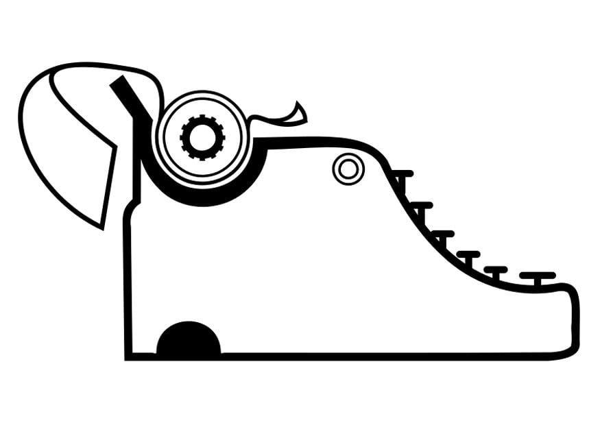Malvorlage Schreibmaschine
