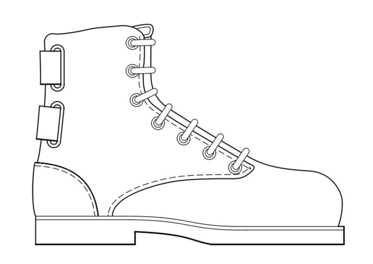 Malvorlage Schuh Kostenlose Ausmalbilder Zum Ausdrucken.