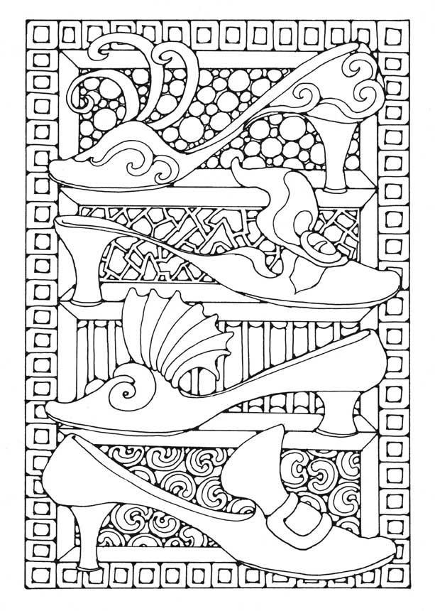 damenschuh malvorlage  coloring and malvorlagan