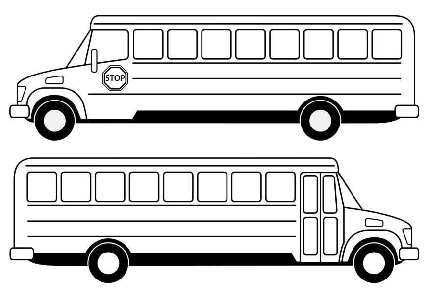 Malvorlage Schulbus | Ausmalbild 29479.