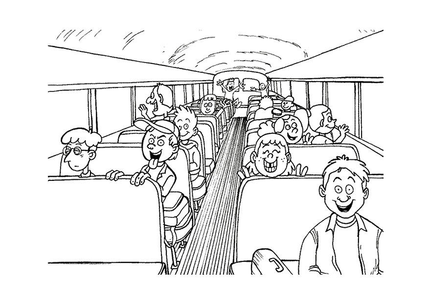 Malvorlage Schulbus | Ausmalbild 9501.