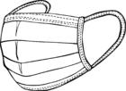 Malvorlage  Schutzmaske
