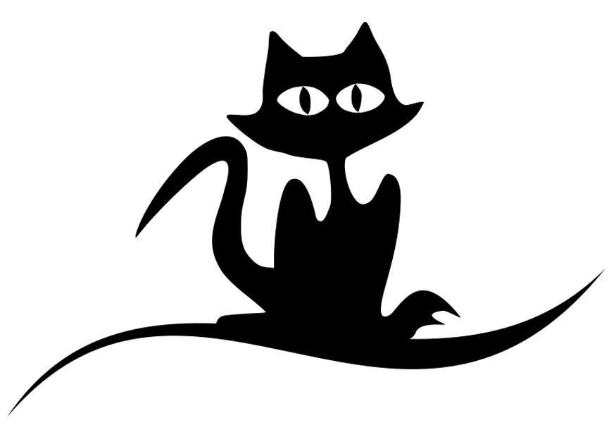 Niedlich Halloween Katze Malvorlagen Bilder - Beispiel ...