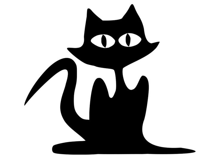 Malvorlage schwarze Katze | Ausmalbild 19741.