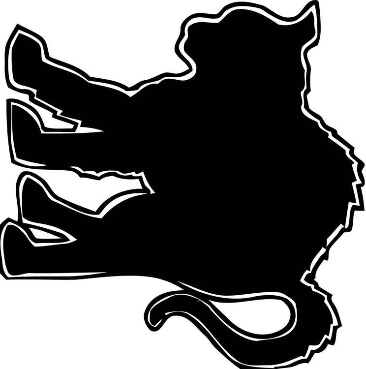 Malvorlage schwarze Katze | Ausmalbild 16102.