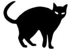 Malvorlage  schwarze Katze