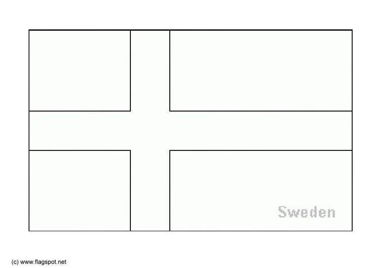 Malvorlage Schweden | Ausmalbild 6167.