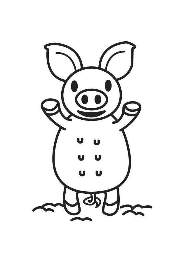 malvorlage schweinchen - kostenlose ausmalbilder zum