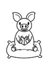 Malvorlage  Schweinchen