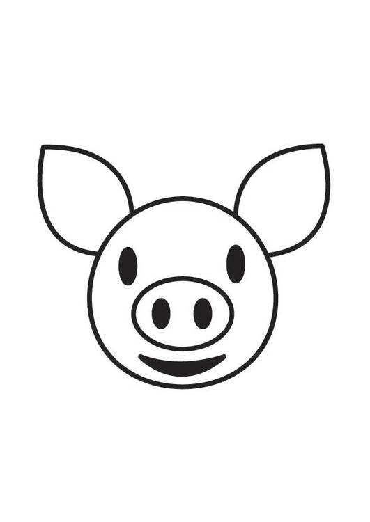 malvorlage schweinekopf  kostenlose ausmalbilder zum