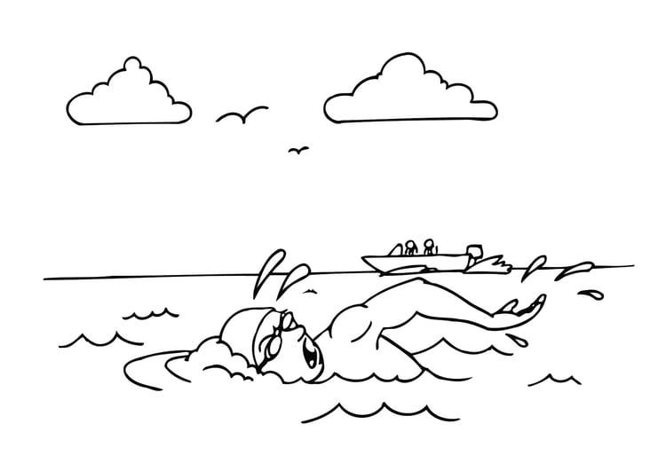Kinder schwimmen ausmalbild  Malvorlage schwimmen | Ausmalbild 12221.