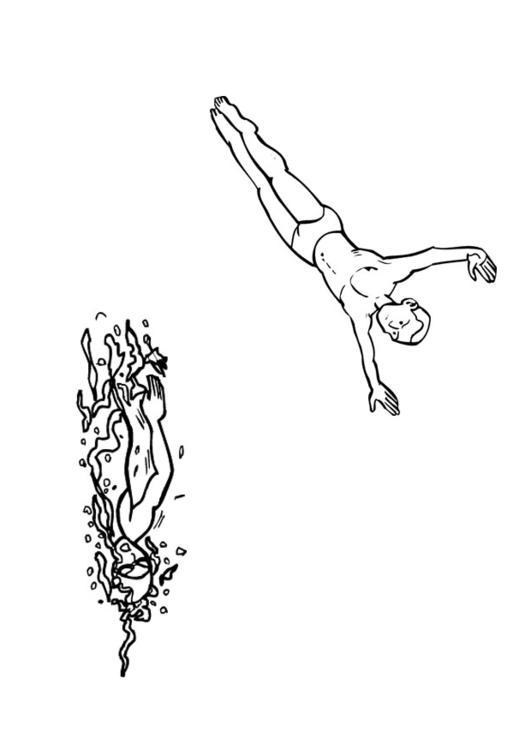 Malvorlage schwimmen | Ausmalbild 26094.
