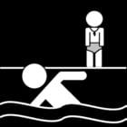 Malvorlage  Schwimmunterricht