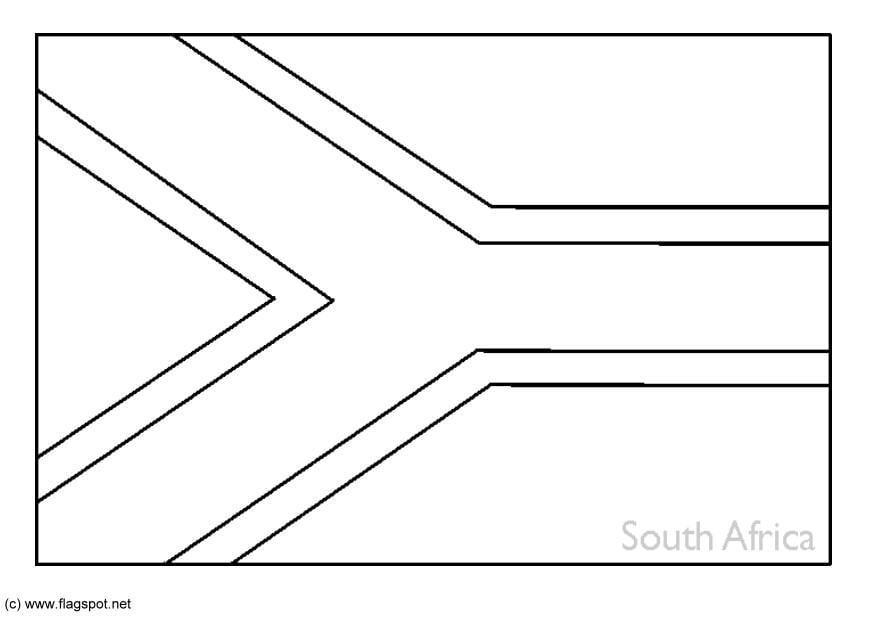 Malvorlage Südafrika   Ausmalbild 6268.