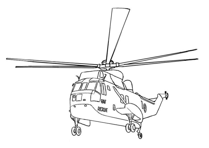 Malvorlage Seaking Hubschrauber